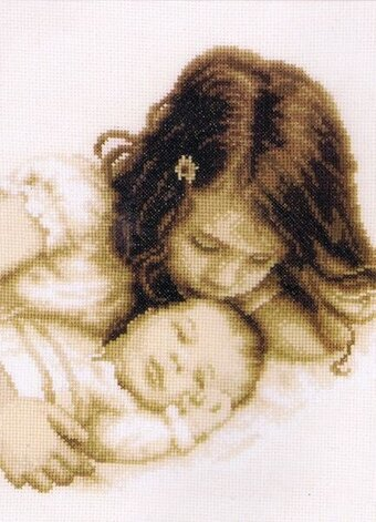 Baby & Sister - Cross Stitch Kit