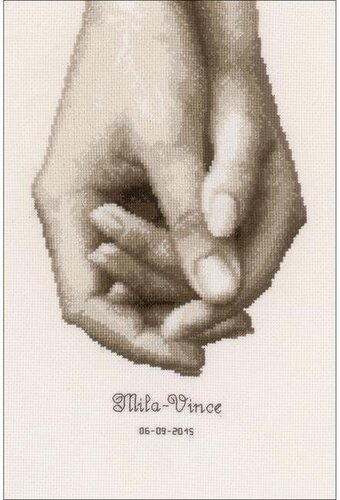 Hand In Hand On Aida - Cross Stitch Kit