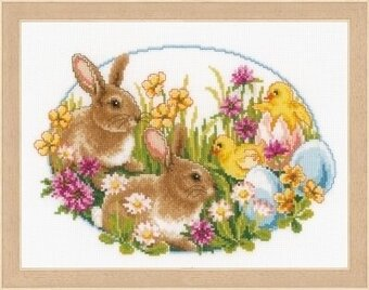 Rabbits and Chicks - Cross Stitch Kit