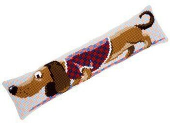 Dachshund in Jacket Draft Stopper - Cross Stitch Kit