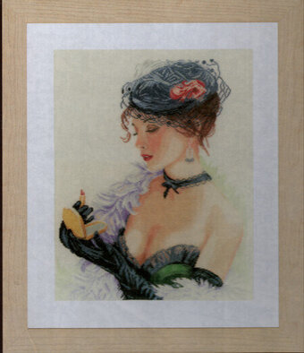 Lady With Lipstick - Cross Stitch Kit