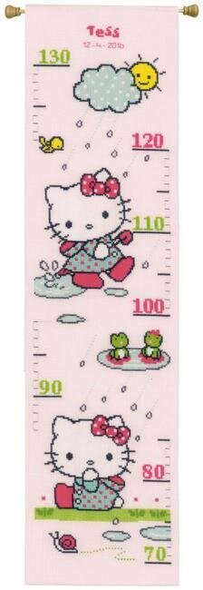 Vervaco Hello Kitty Rainy Growth Chart Cross Stitch Kit 0155627