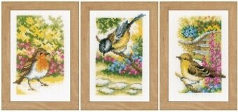 Garden Birds (set of 3) - Cross Stitch Kit