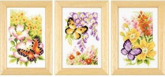 Butterflies and Flowers Miniatures - Cross Stitch Kit
