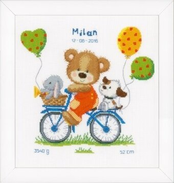 Cycling Bear - Cross Stitch Kit