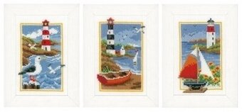 Lighthouse - Set of 3  - Cross Stitch Kit