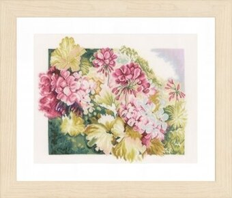 Geraniums - Cross Stitch Kit