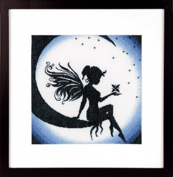 Fairy on the Moon - Cross Stitch Kit
