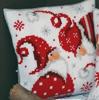 Christmas Gnome I - Cushion - Needlepoint Kit