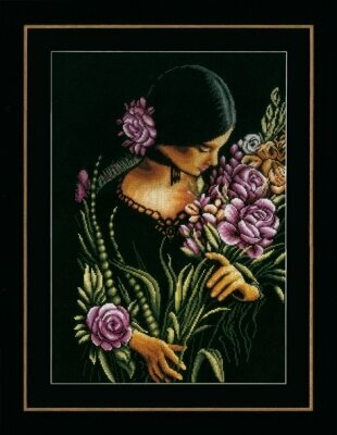 Woman & Flowers - Cross Stitch Kit