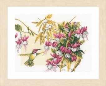 Colibri and Flowers - Marjolein Bastin - Cross Stitch Kit