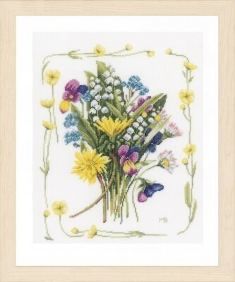 Bouquet of Flowers - Marjolein Bastin - Cross Stitch Kit