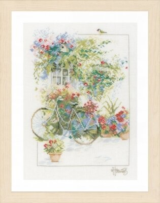 Flowers & Bicycle - Cross Stitch Kit