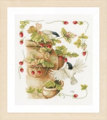 Strawberries & Birds - Marjolein Bastin - Cross Stitch Kit