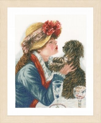 Girl & Dog - Cross Stitch Kit