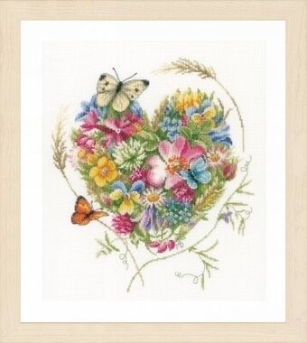 Heart of Flowers - Marjolein Bastin - Cross Stitch Kit