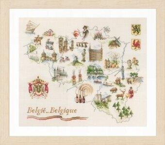 Lanarte Map of Belgium - Cross Stitch Kit - 123Stitch