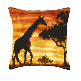 Giraffe Cushion - Needlepoint Kit