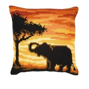 Elephant Cushion - Needlepoint Kit