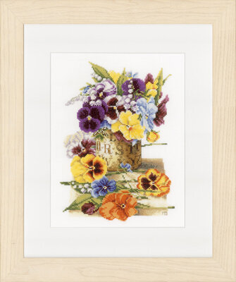Pot Of Pansies - Cross Stitch Kit