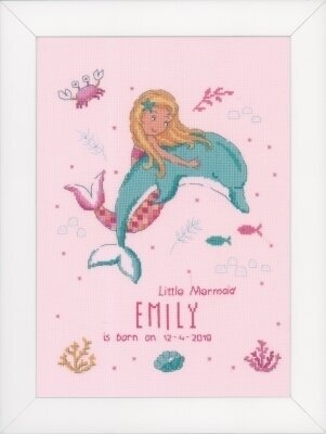 Little Mermaid & Dolphin - Cross Stitch Kit