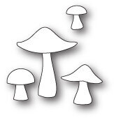 Poppystamps Mushrooms and Toadstools Die
