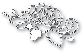 Poppystamps Blooming Rose Die