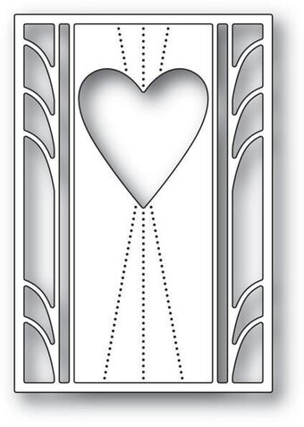 Deco Marquis Heart - Poppystamps Valentine Craft Die
