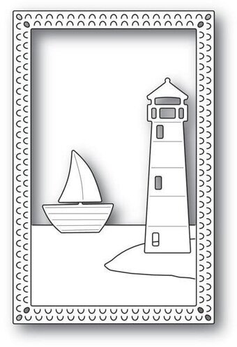 Lighthouse Frame - Poppystamps Craft Die