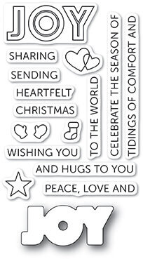 Poppystamps Tidings of Joy - Christmas Clear Stamp