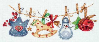Christmas Ornaments Garland - Cross Stitch Kit