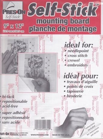 "Pres-On Self-Stick Chipboard Mounting Board 9""x12"""