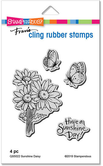 Sunshine Daisy - Cling Rubber Stamp