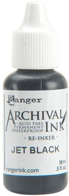 Ranger Archival Ink Reinker - Jet Black