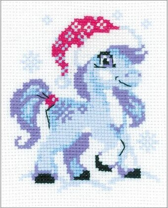 Gentle Snow Horse - Cross Stitch Kit