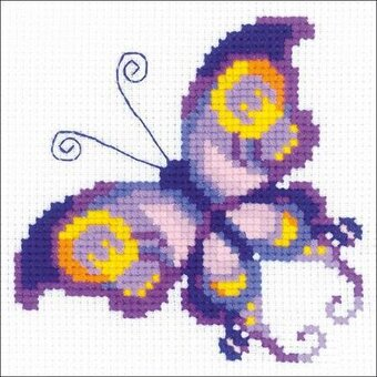 Amethyst Butterfly - Cross Stitch Kit