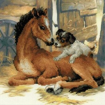 Foal and Puppy - Cross Stitch Kit