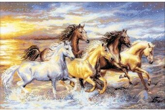In The Sunset Horses - Cross Stitch Kit
