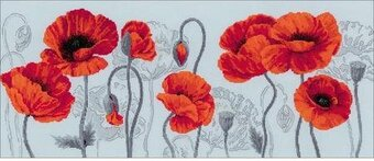 Scarlet Poppies - Cross Stitch Kit