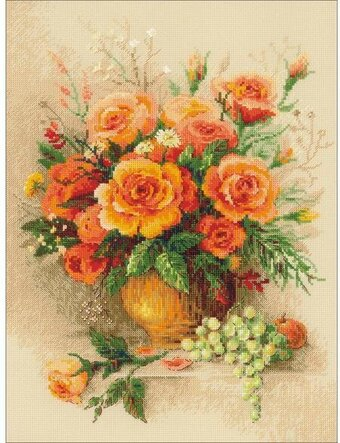Tea Roses - Cross Stitch Kit