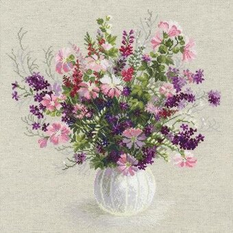 Summer Bouquet Flowers - Cross Stitch Kit