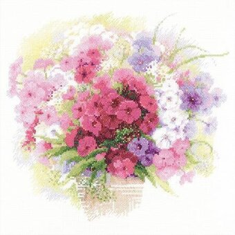 Watercolor Phlox Flowers - Cross Stitch Kit