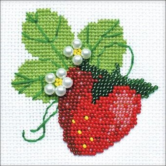 Garden Strawberry - Cross Stitch Kit