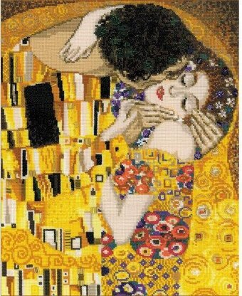 The Kiss - G  Klimt's Painting - Cross Stitch Kit