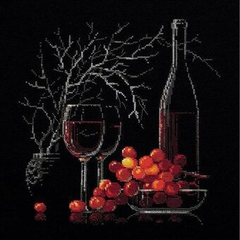 Still Life With Red Wine - Cross Stitch Kit