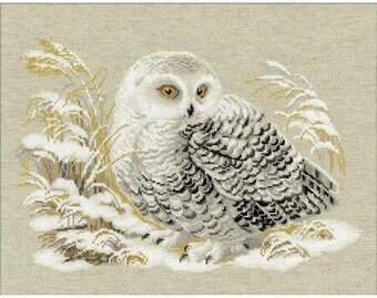 White Owl - Cross Stitch Kit