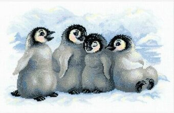 Funny Penguins - Cross Stitch Kit