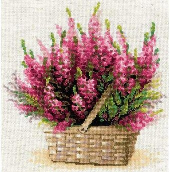 Scottish Heather Flowers - Cross Stitch Kit