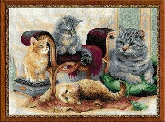 Feline Family - Cross Stitch Kit