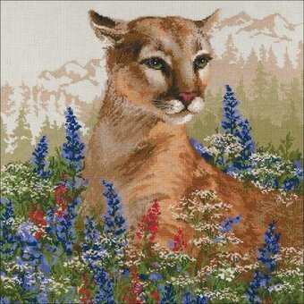 Cougar - Cross Stitch Kit